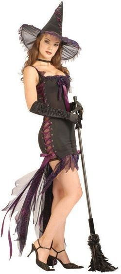 Web Witch Lace Up Fancy Dress Costume