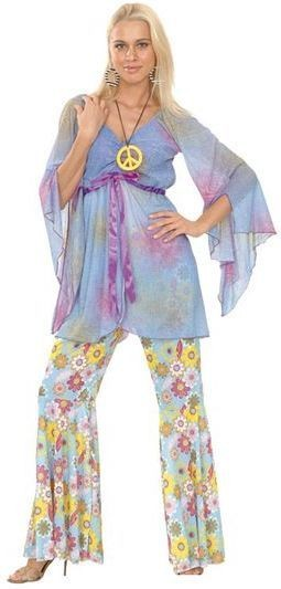 Hippy Lady Groovy Fancy Dress Costume