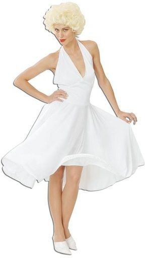 Hollywood White Dress Fancy Dress Costume