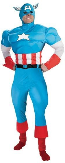 Captain America Fancy Dress Costume