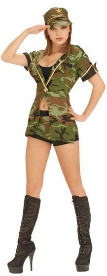 Combat Cutie Fancy Dress Costume