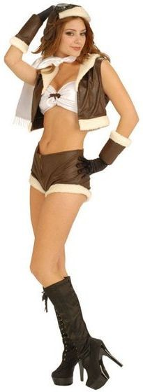Bombshell Babe (Aviator) Sexy Fancy Dress Costume
