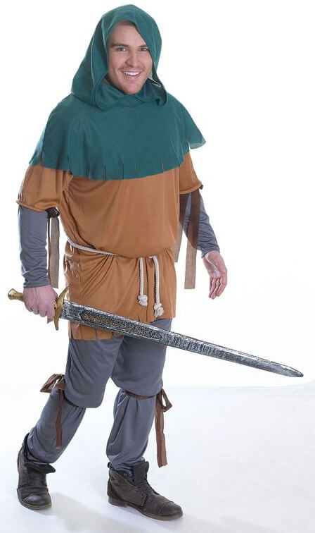 Mens Little John Fancy Dress Costume