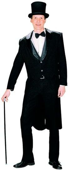 Tailcoat Black (Male) (1920S , Old English Fancy Dress)