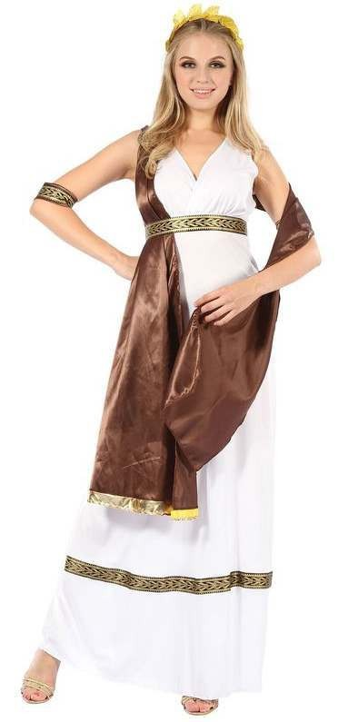 Ladies Greek Goddess Fancy Dress Costume