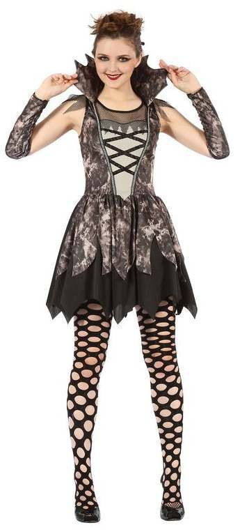 Ladies Gothic Twilight Vampire Halloween Fancy Dress Costume