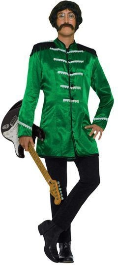 Sgt Peppers Jacket. Green Fancy Dress Costume