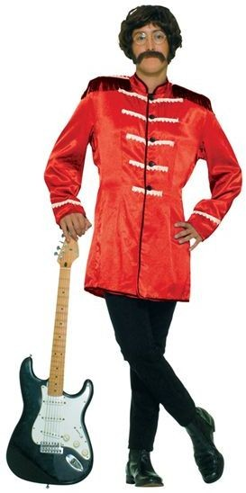 Sgt Peppers Jacket. Red Fancy Dress Costume