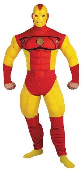Iron Man Deluxe Muscle Fancy Dress Costume