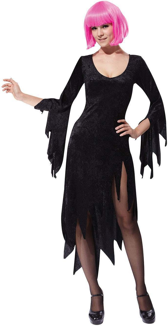Ladies Black (Siren Woman Dress) Fancy Dress Costume