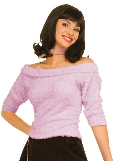 Sock Hop Top. Pink (1950S Fancy Dress)