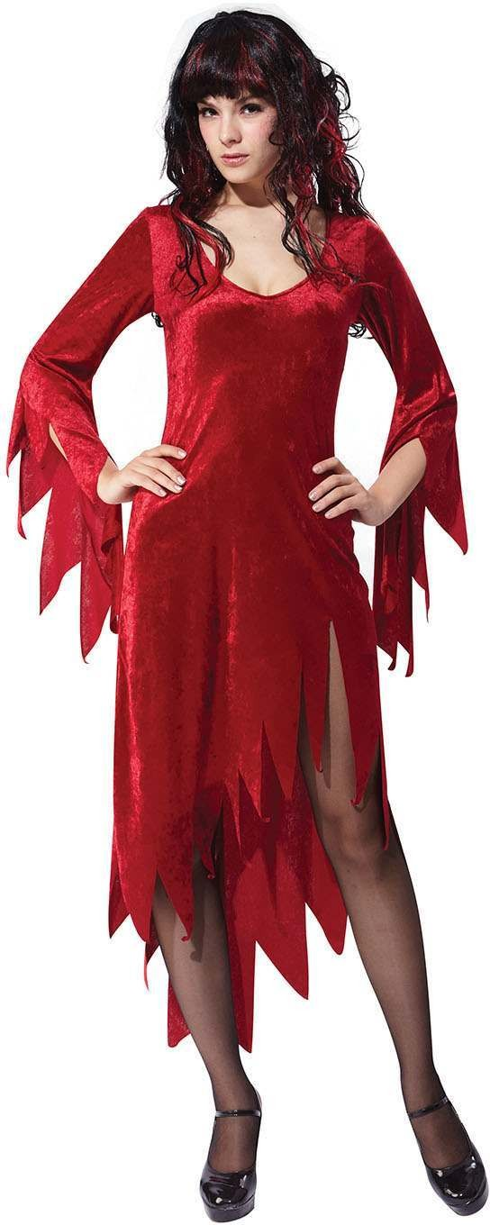 Ladies Red (Siren Woman Dress) Fancy Dress Costume