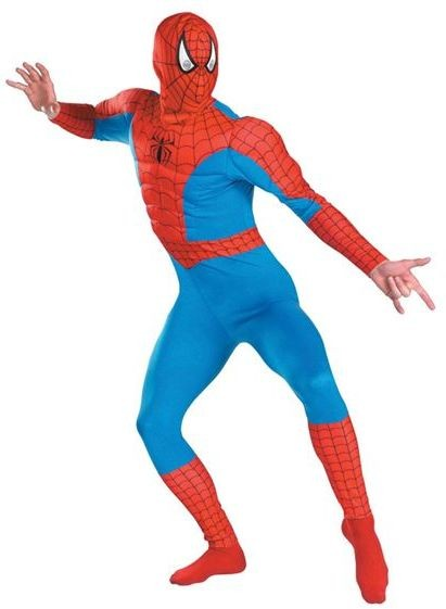 Spiderman. Muscle Chest Fancy Dress Costume