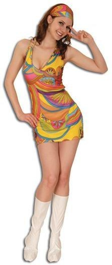 Go Go Multi Swirl Fancy Dress Costume