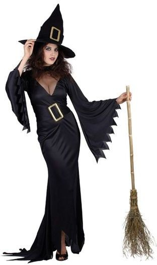 Witch . Black Fancy Dress Costume