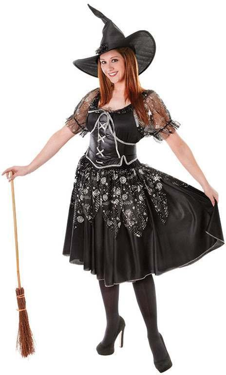Charmed Witch. Full Figured Fancy Dress Costume