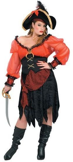 Buccaneer Beauty. Full Figured Fancy Dress Costume