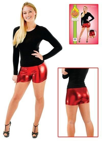Metallic Shorts. Red (Burlesque , Sexy Fancy Dress)