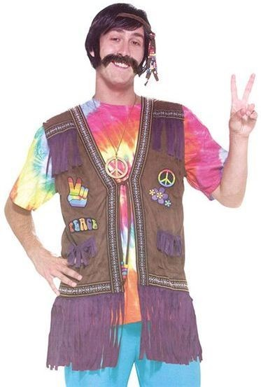 Hippie Peace Vest (1960S Fancy Dress)