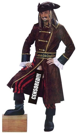 Captain John Longfellow Fancy Dress Costume