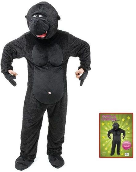 Gorilla . Big Head Fancy Dress Costume