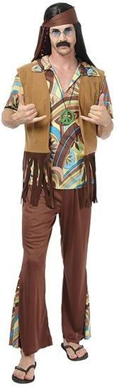 Hippy Man Woodstock Fancy Dress Costume