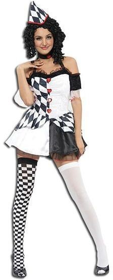 Harlequin Female Fancy Dress Costume