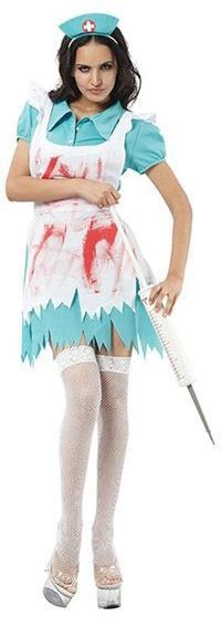 Blood Splatter Nurse Fancy Dress Costume