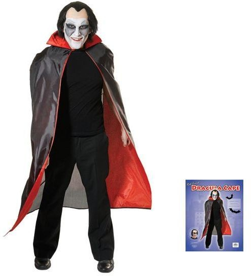 Dracula Cape. Red Lined (Halloween Fancy Dress)