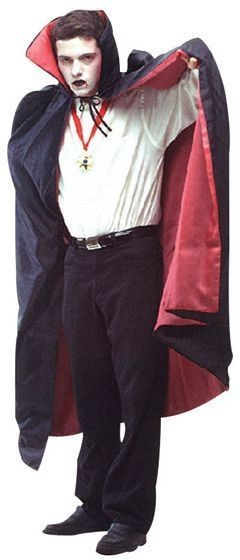 Dracula Cape / Red Lining. Deluxe (Halloween Fancy Dress)
