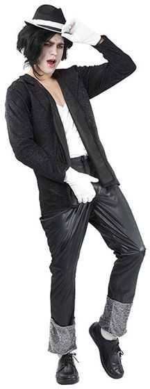Superstar. Black Jacket /Trousers Fancy Dress Costume
