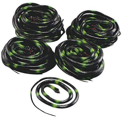 """Snakes 38"""" Box of 36 (Halloween Decorations)"""