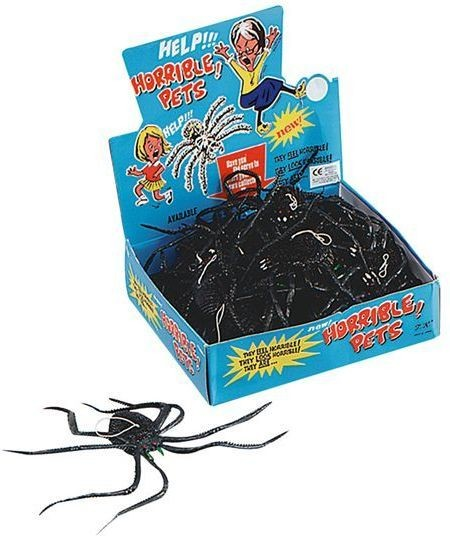 "Spiders.Black 14"" Long Legged Box of 24 (Halloween Decorations)"