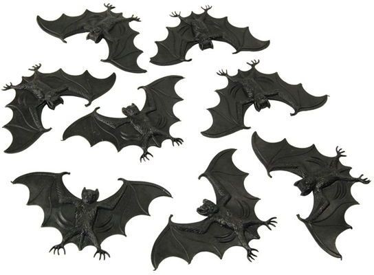 Scary Creatures. Bats (8Pcs/Pkt) (Halloween Decorations)
