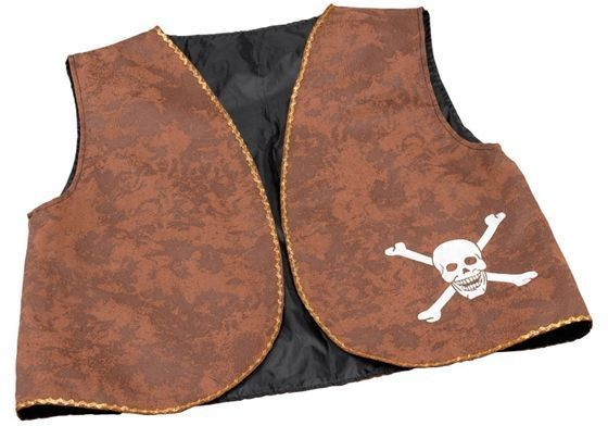 Pirate Waistcoat. Brown Distressed (Pirates Fancy Dress)