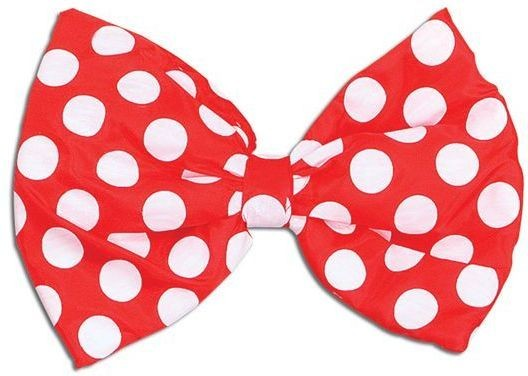 Bow Tie. Jumbo Spotted Material (Clowns Fancy Dress Disguises)
