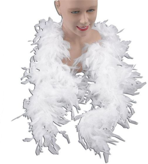 Feather Boa. White (1920S , Burlesque Fancy Dress Feather Boas)