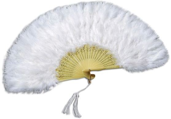 Feather Fan.White (1920S , Burlesque Fancy Dress Feather Boas)