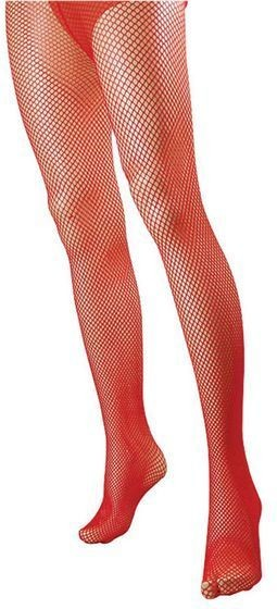 Fishnet Tights.Red (Halloween , Burlesque Tights)