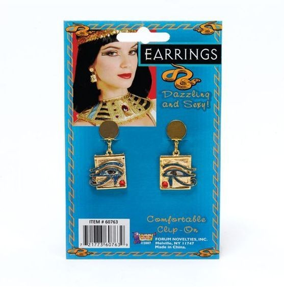 Cleopatra Eye Ear Rings (Egyptian Fancy Dress Jewellery)