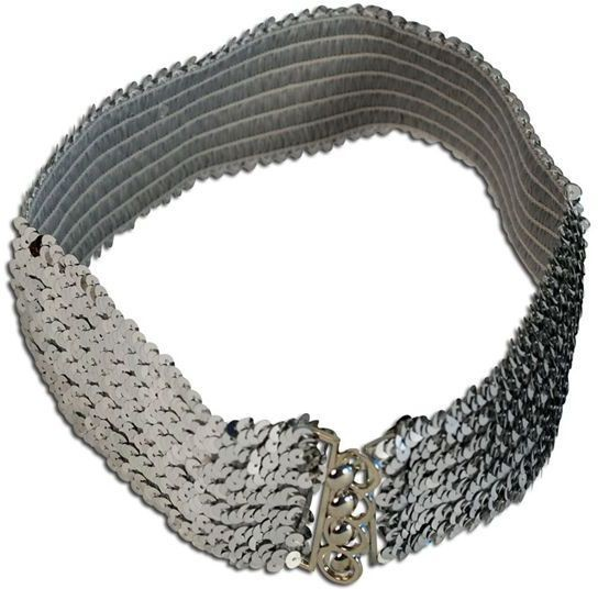 Sequin Belt Silver (1970S Fancy Dress)