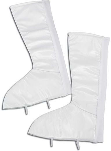 Go Go White Boot Tops (1960S Fancy Dress Shoes)