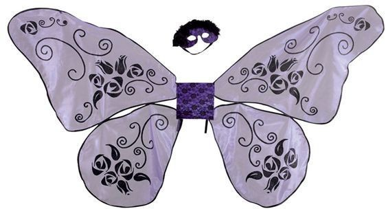Floating Rose Wings. Jumbo (Animals , Fairy Tales Fancy Dress Disguises)