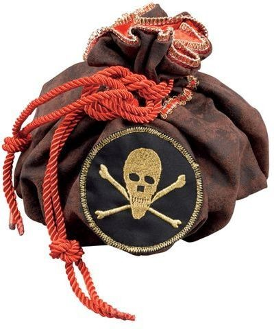 Pirate Drawstring Bag (Pirates Fancy Dress)