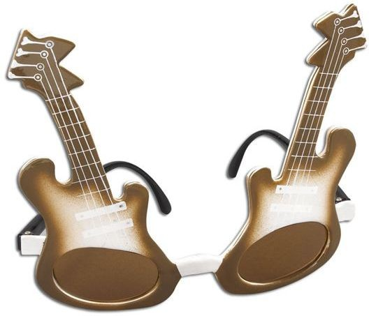 Guitar Glasses (1970S , Music Fancy Dress Glasses)
