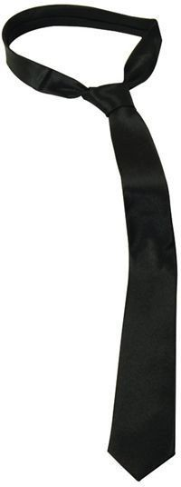 Skinny Tie. Black (1980S , 1920S Fancy Dress)