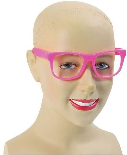 Pink Frame Glasses (1980S , School Fancy Dress Glasses)