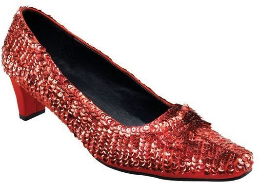 Ladies Red Sequin Shoes (Fancy Dress Shoes)