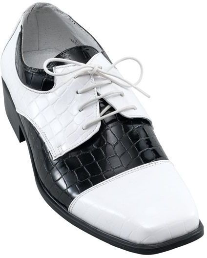 Oxford Mans Black/White (Fancy Dress Shoes)