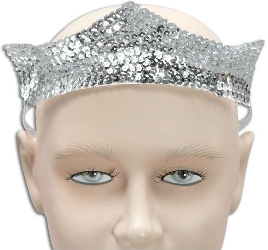 Tiara, Sequin, Silver. Small (Royalty , Fairy Tales Fancy Dress Hats)